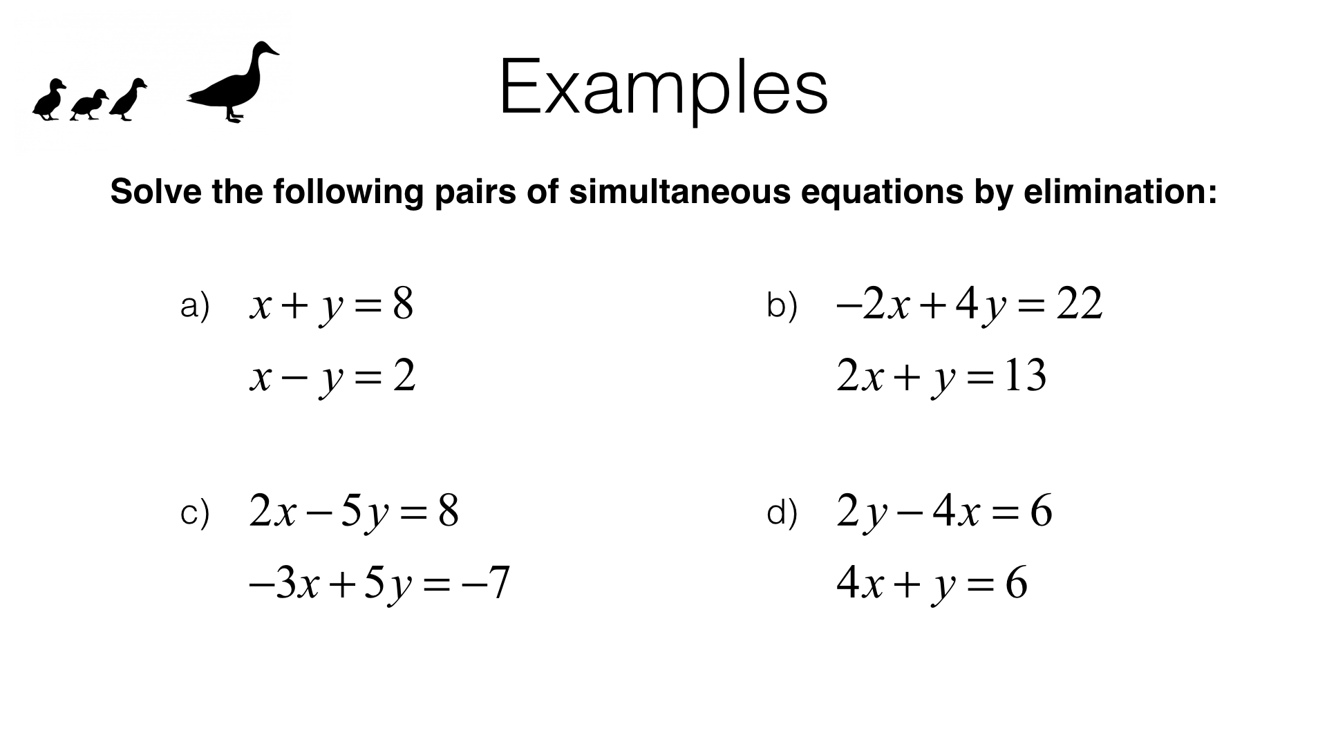 A23a – Solving two linear simultaneous equations algebraically by With Regard To Solving Linear Equations Worksheet Pdf
