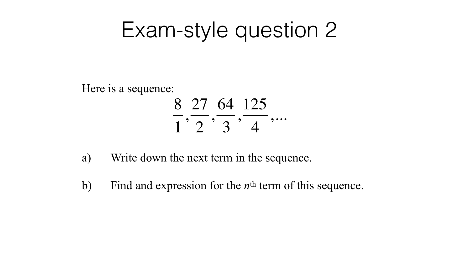 A24a Recognising And Using Square Cube And Triangular Numbers