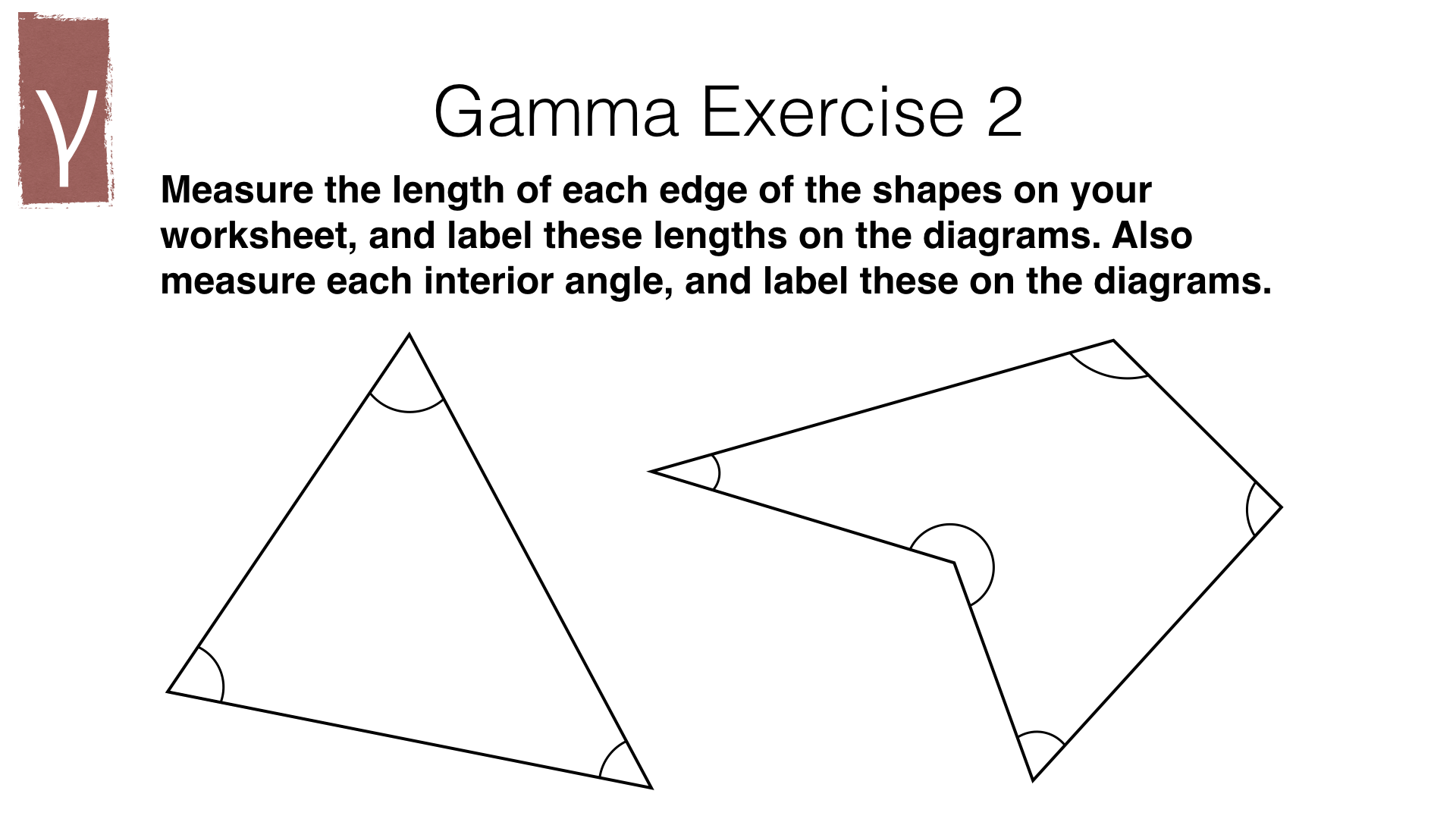 G15a – Measuring line segments and angles in geometric