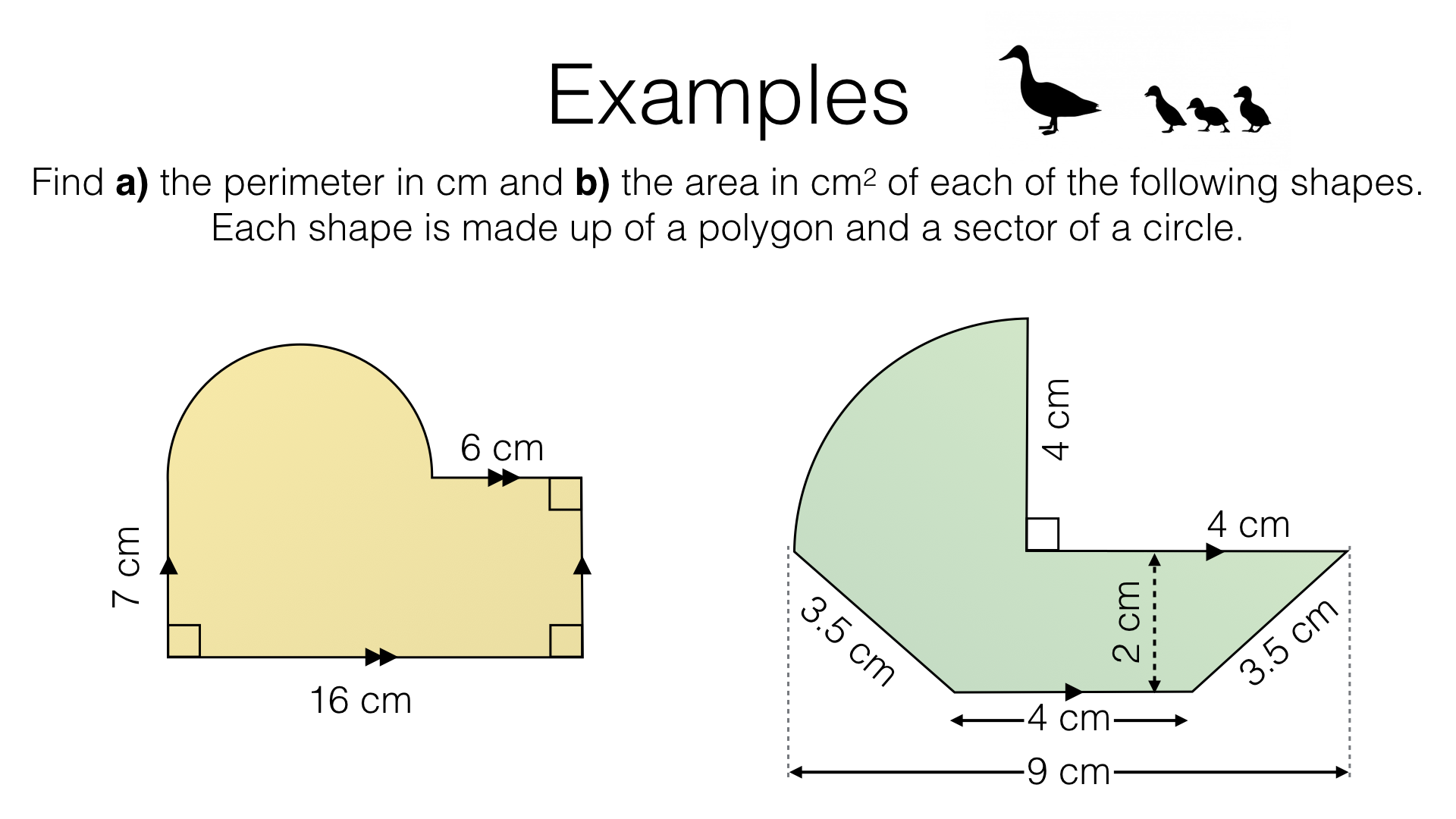 G17e – Perimeter and area of composite shapes made up of