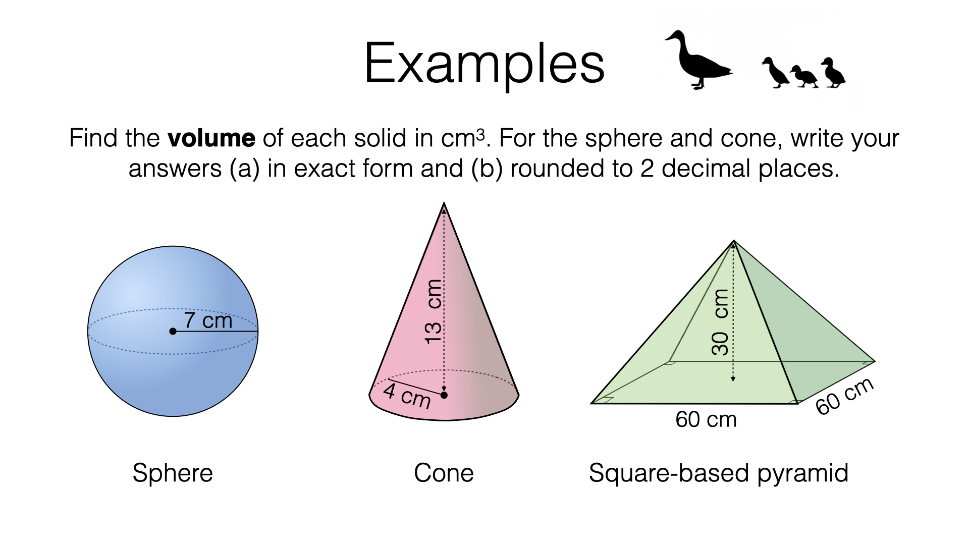 Worksheets Volume Of Pyramids And Cones Worksheet g17g volume of spheres pyramids and cones bossmaths com cones