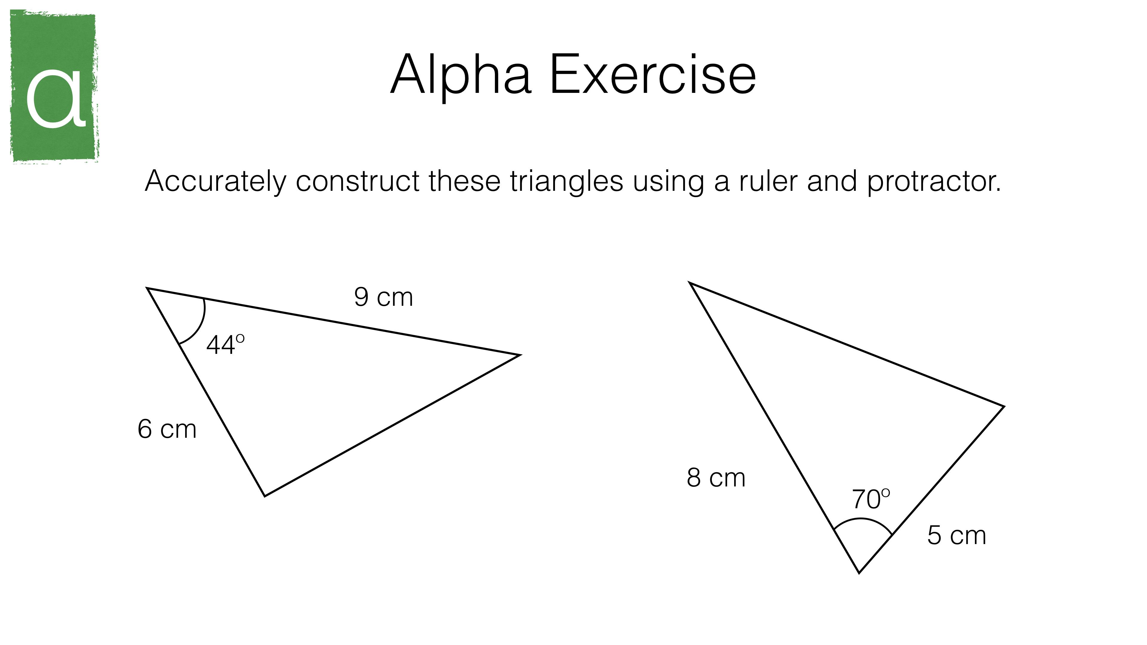 G2b – Constructing triangles – BossMaths.com