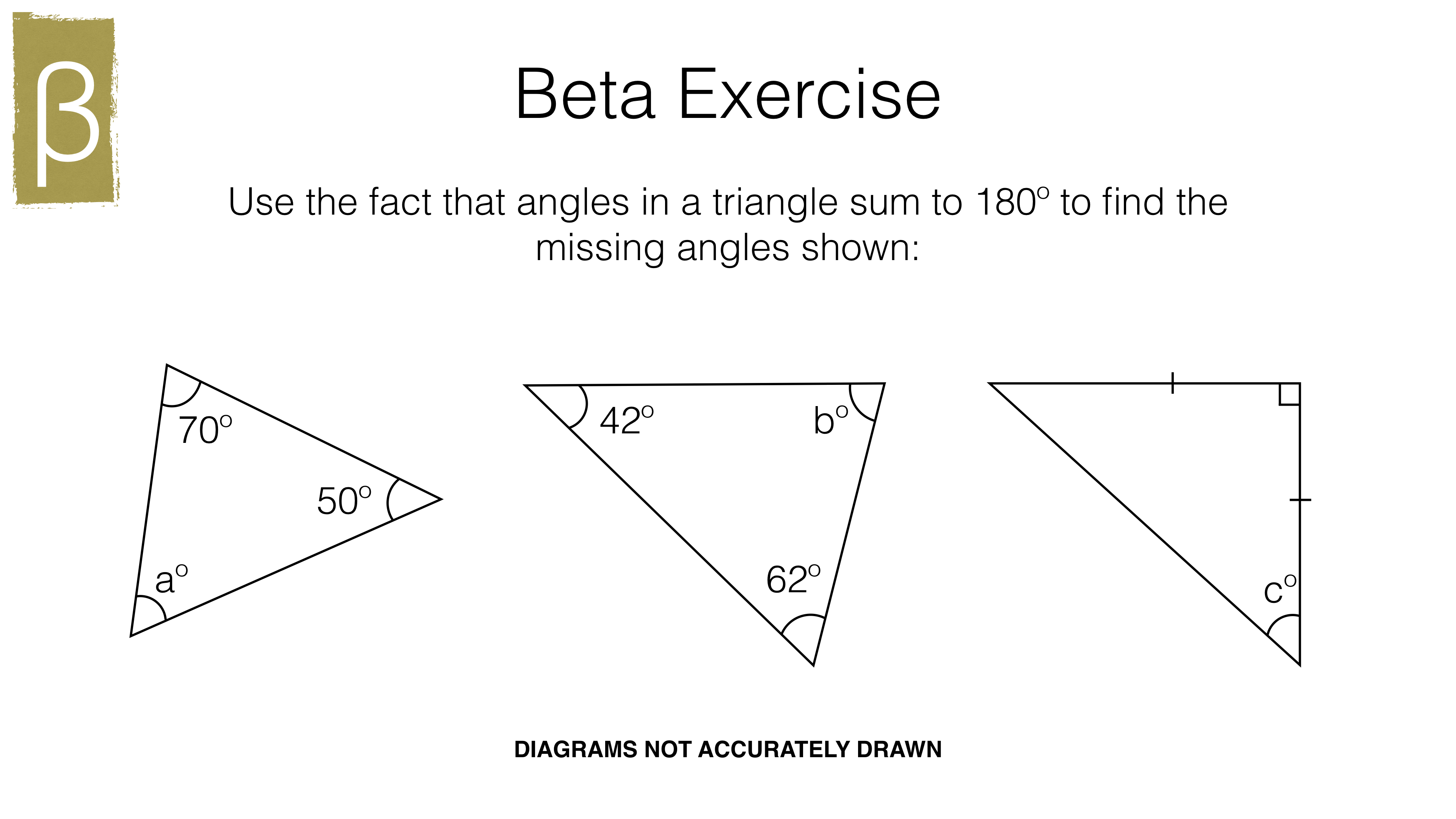 G22c – The sum of angles in a triangle and the angle properties of Intended For Triangle Angle Sum Worksheet