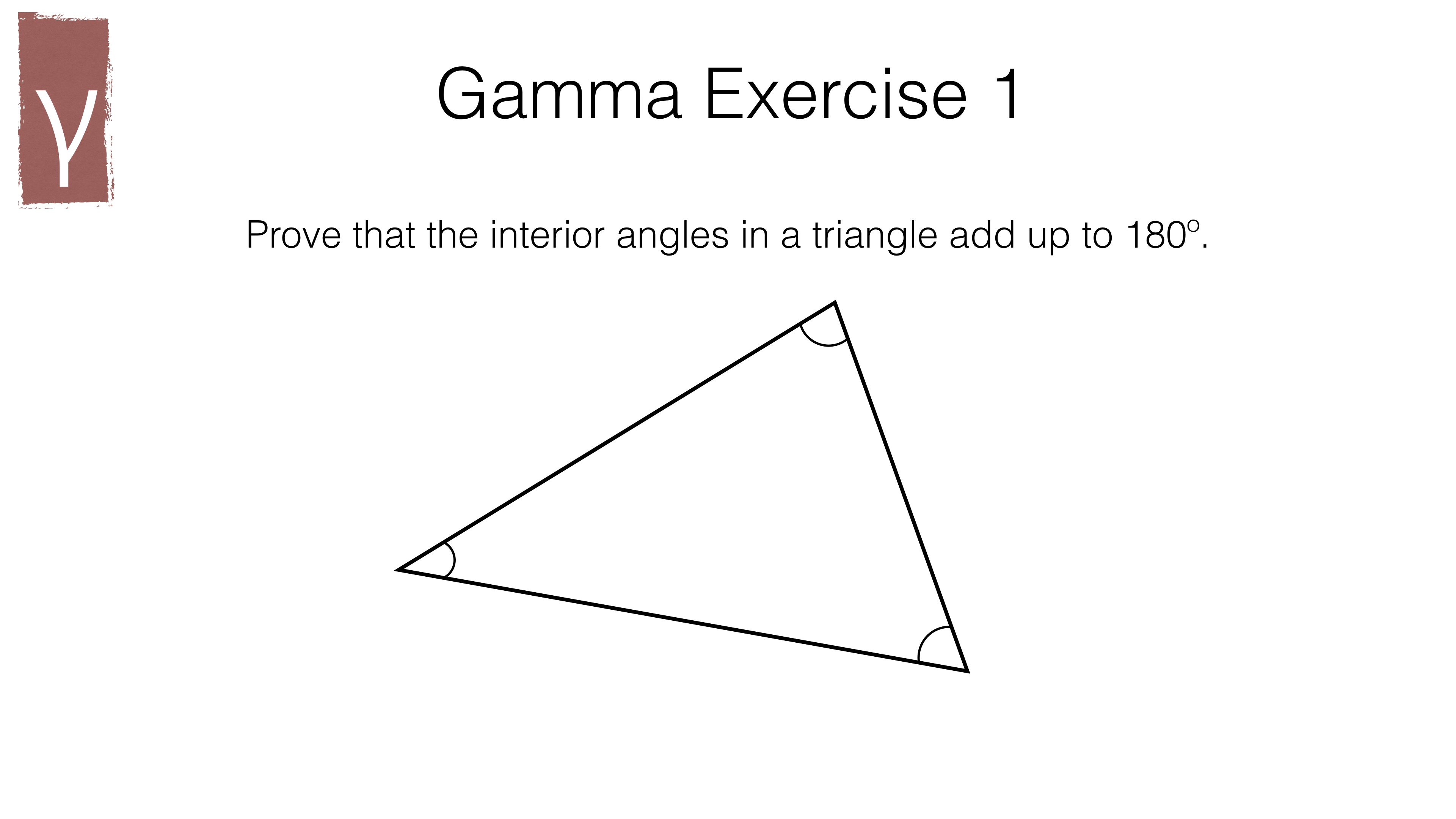 G3c The Sum Of Angles In A Triangle And The Angle