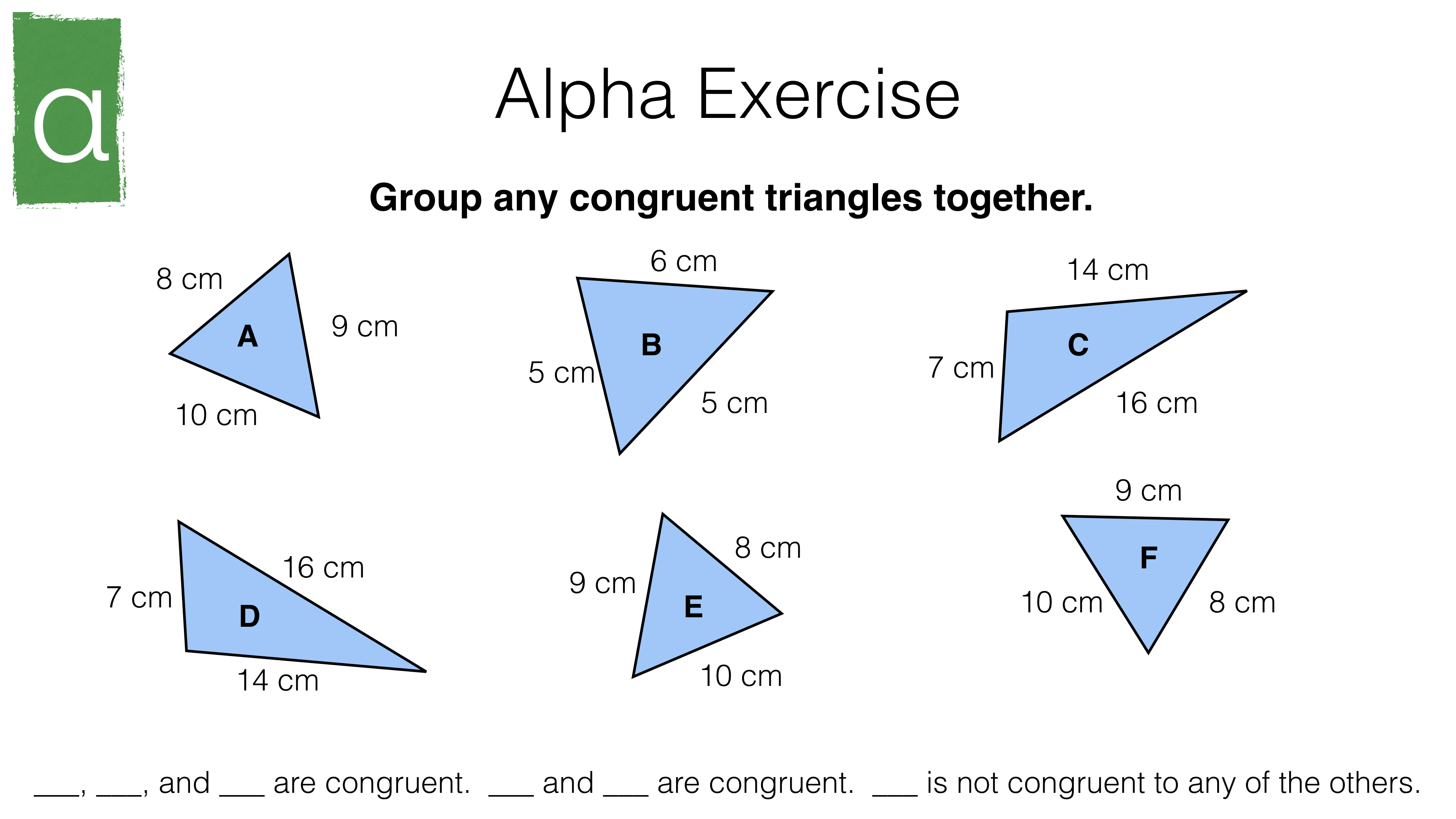 congruence criteria for triangles (sss, sas, asa, rhs)