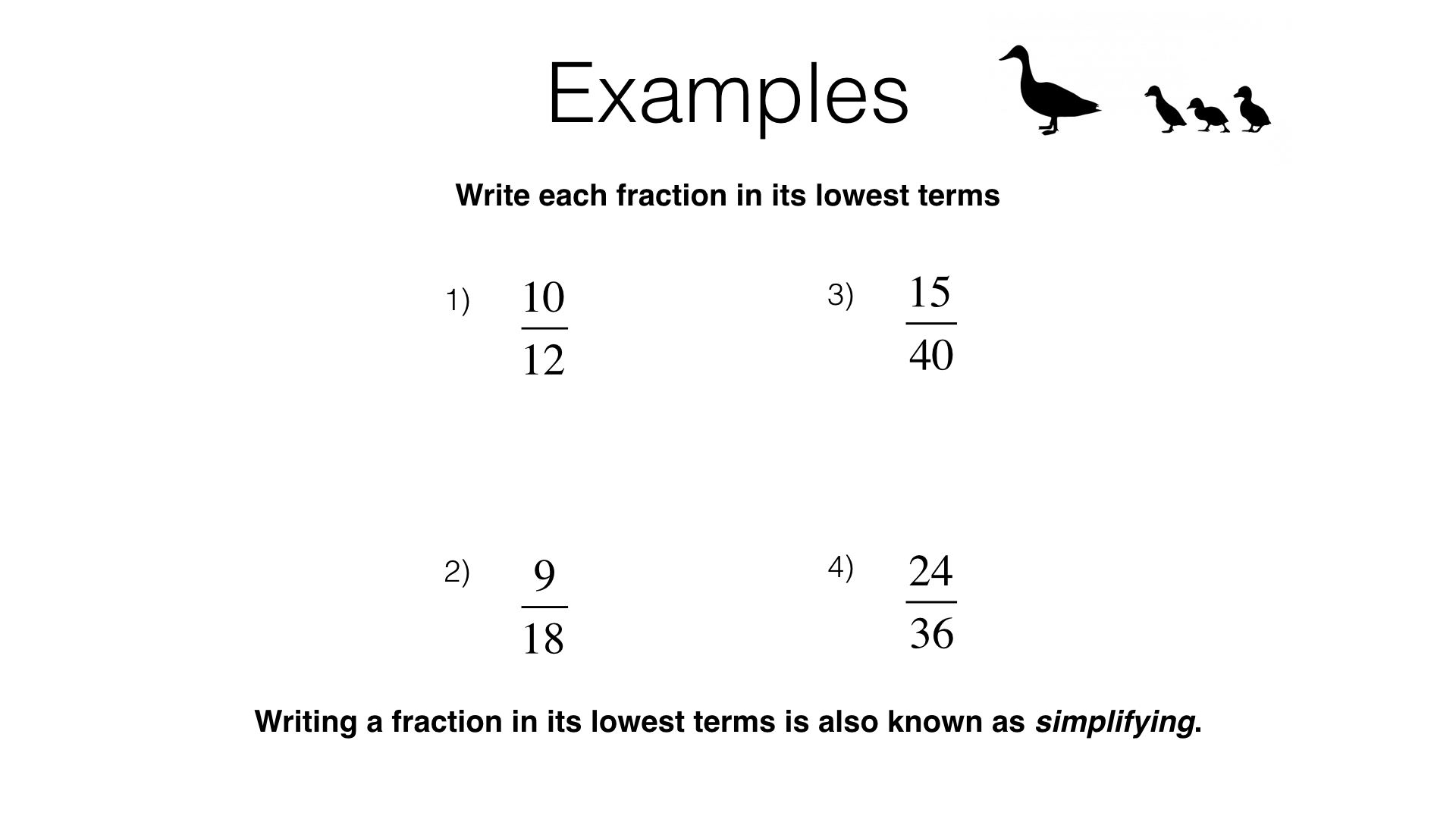 n1c – equivalent fractions and simplifying fractions – bossmaths