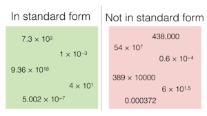 standard form number examples  N5a – Converting between normal numbers and standard form ...