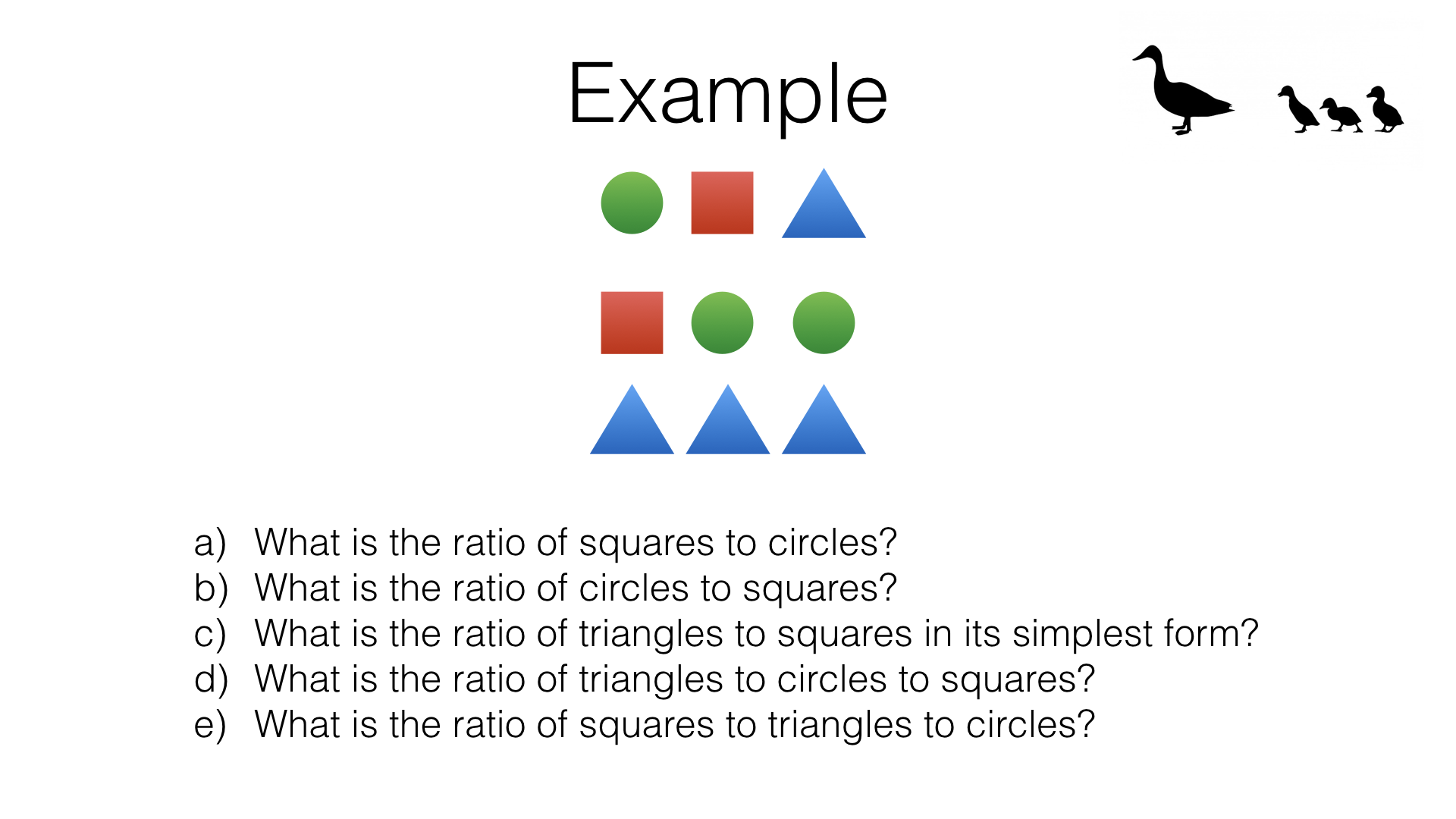 r4a using ratio notation and reducing ratios to simplest form