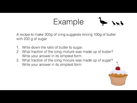 R8a – Relating ratios to fractions and to linear functions video 1 of 3