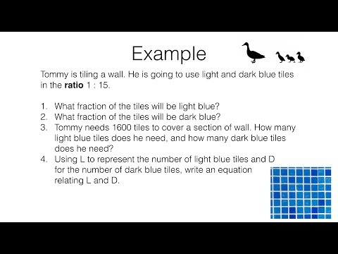 R8a – Relating ratios to fractions and to linear functions video 2 of 3